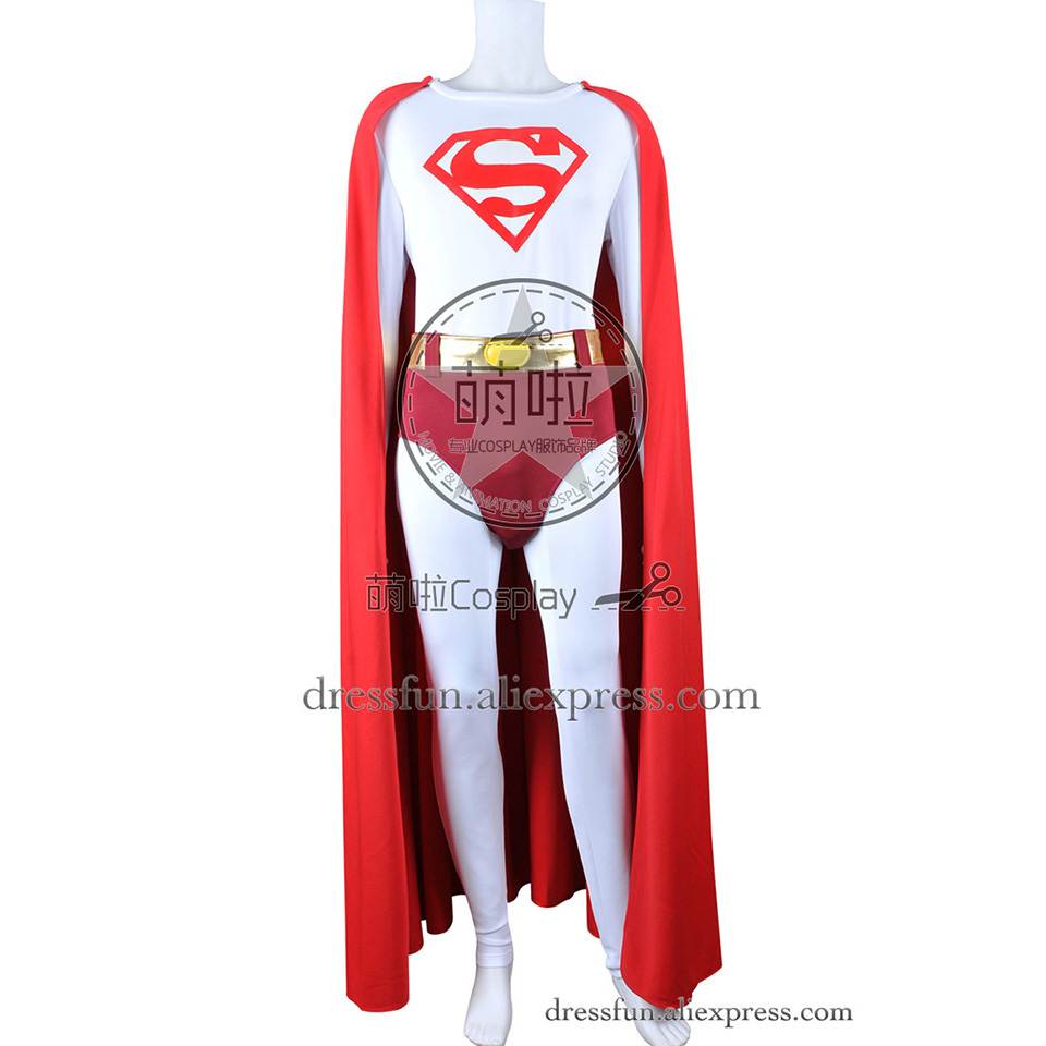 Superman Cosplay Cark Kent Costume Jumpsuit Uniform Cape Red New Version Male Adult Halloween Fast Shipping Super Man