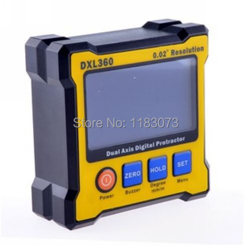 High Accuracy Dual Axis Digital Angle Protractor Angle Meter Dual-axis Digital Level Gauge with 5 Side Magnetic Base With Box handy digital angle meter with level 0 185 degrees