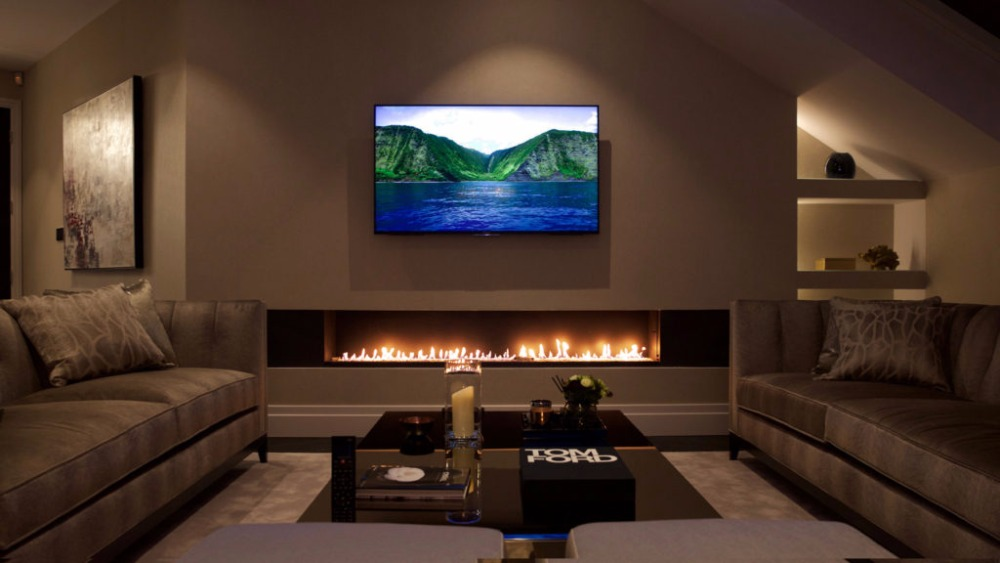 On Sale 36'' Electric Fireplace Tv Stand With Remote Control