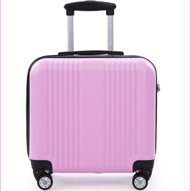 ABS + PC Maleta YISHIDUN valiz bolsa hombres ordenador de viaje de color caramelo de las mujeres ruedas universales carro bolsas de equipaje rodante bolsa de 16