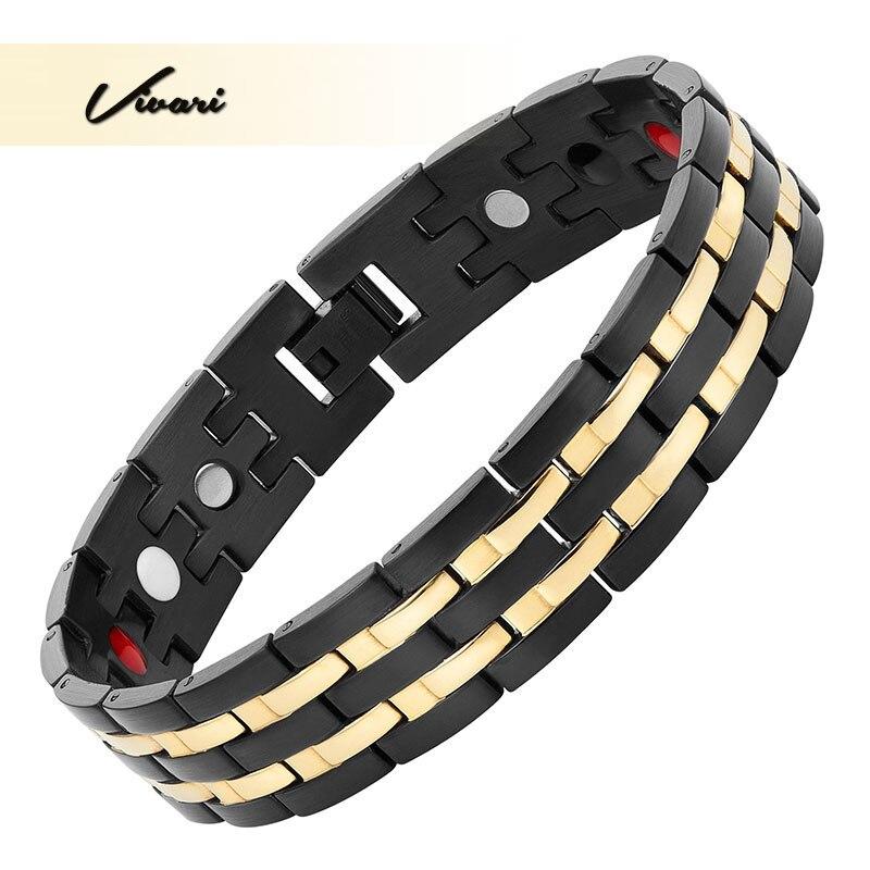 Vivari 2017 черный Цвет Нержавеющаясталь Магнитный браслет для Для мужчин Ионные Покрытие модные очаровательные браслет jewelry браслет