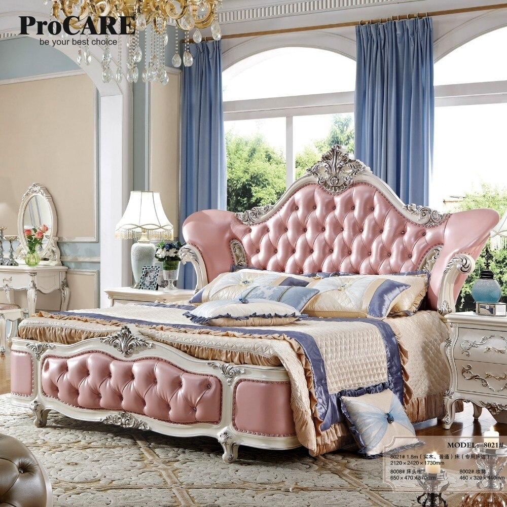 Perfekt Luxus Schlafzimmer Möbel König Größe Bett Leder Material Holz Rahmen 8021