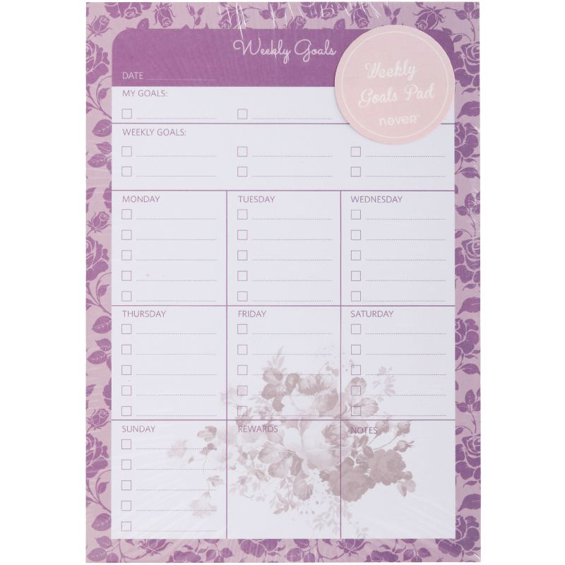 NEVER Rose Series Legal Pad Memo Pad Weekly Plan Planner Diary office Accessories school supplies Chancellory School stationery 2018 pet transparent sticky notes and memo pad self adhesiv memo pad colored post sticker papelaria office school supplies