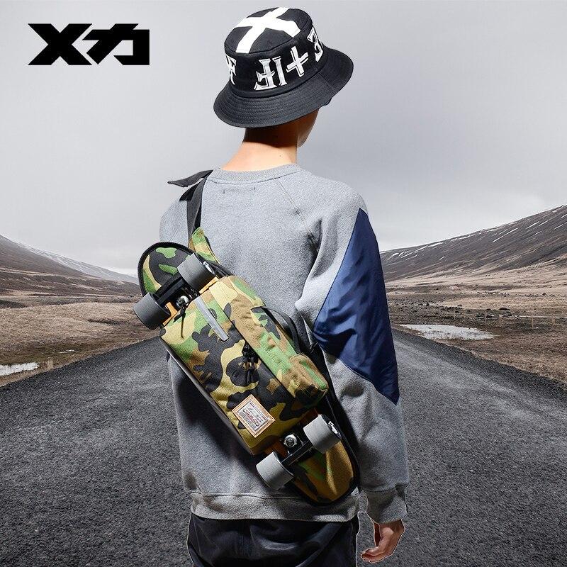 MACKAR 28x10x18 cm sac à bandoulière simple sac de Skateboard 1000D petit Cruiser sacs de transport hommes sac de taille de rue