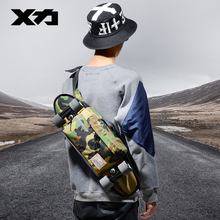 Mackar 28 × 10 × 18センチシングルショルダー胸パックスケートボードバッグ1000d小さなクルーザー運ぶバッグ男性ストリートウエストバッグ
