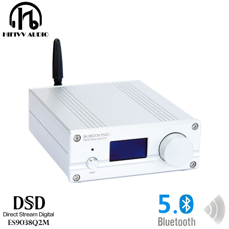 Tragbares Audio & Video Hifi Dac Es9038q2m Audio Hifi Fieber Musik Bluetooth 5,0 Dsd Decoder Usb Coaxial Faser Xmos Xu208 Digital-analog-wandler