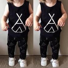 Hot Baby Gril Infant Boys Girls Clothes Tops T-shirt Vests+Pants Set Suit Outfit