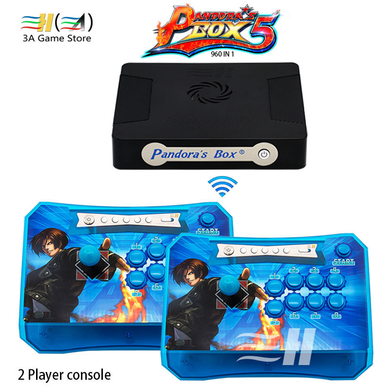 New 2 Players Pandora's Box 5 960 in 1 Wireless Arcade Stick Controller Panel Fighting USB/HDMI/VGA Connected to PC PS3 XBOX360 999 in 1 retro video games console with double stick 2 players classic arcade joystick home arcade support vga hdmi output