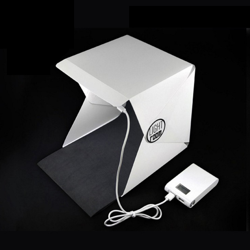 Nuovo Portatile Pieghevole Lightbox Photography Studio Softbox Luce LED Soft Box per iPhone 6 S Xioami
