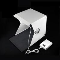 Portable Folding Lightbox Photography Studio Softbox LED Light Soft Box For IPhone Samsang HTC DSLR Camera