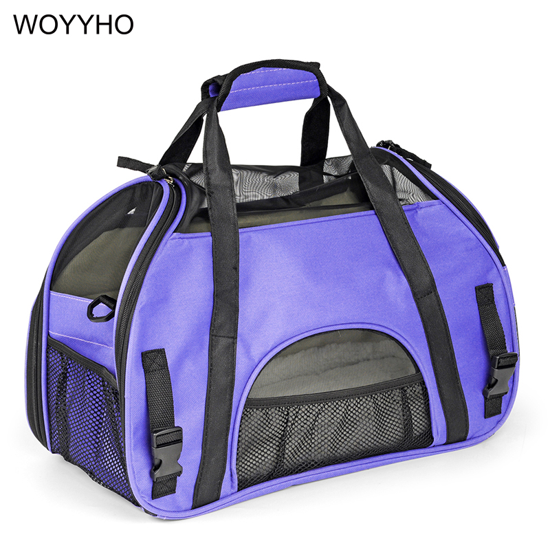 S/L Portable Folding Pet Carrying Bag For Small Dog Cats Breathable Slings Outdoor Travel Dogs Carriers