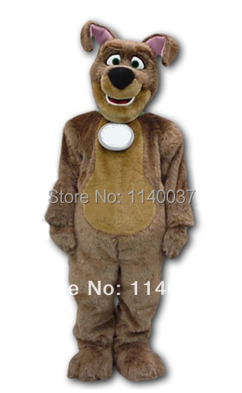 mascot Public Service Advertising Recycle Dog Mascot Costume Brown Plush Dog Costume Stage Props Outfit Suit Cosply Costume