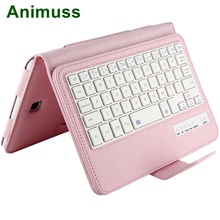 цена на Animuss 2 in 1 Detachable Litchi PU Leather Case Bluetooth Wireless Keyboard For Galaxy Tab A 8.0 T350