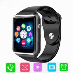 Спортивные Bluetooth Смарт часы для мужчин уведомление о синхронизации поддержка SIM TF подключение для Apple iphoneAndroid телефон камера Smartwatch