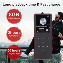 купить MP3 Player Bluetooth 4.2 Music Player Built-in Mic With 1.8 Inch Screen Support 128G TF Card 8 Hours Playback по цене 1385.96 рублей