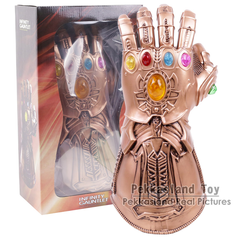 Marvel Legends Avengers Infinity War Thanos Cosplay Glove 1:1 Party Halloween Costume high quality 2018 avengers 3 1 1 thanos glove halloween cosplay prop thanos infinity war gloves