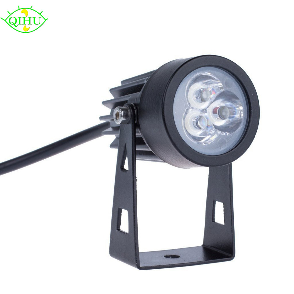 led outdoor spotlight 3w waterproof lights led lawn lamp landscape spot light ip65 lighting. Black Bedroom Furniture Sets. Home Design Ideas