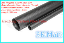 2pcs 3k Carbon Fiber Tube Length 1000mm x OD 5mm 6mm 7mm 8mm 9mm 10mm (Roll Wrapped) For RC Airplane Multicopter Arm DIY