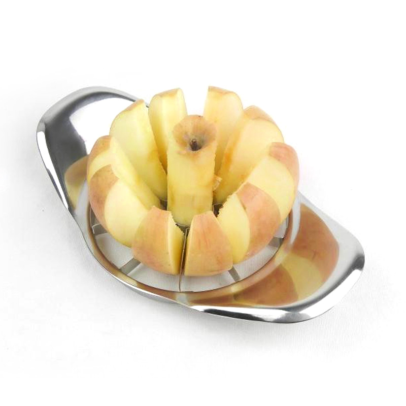 2017 New Stainless Steel Apple Slicer Divider Corer Pear Cutter Fruit Vegetable Tools Easy Cutting Apples Kitchen Accessories