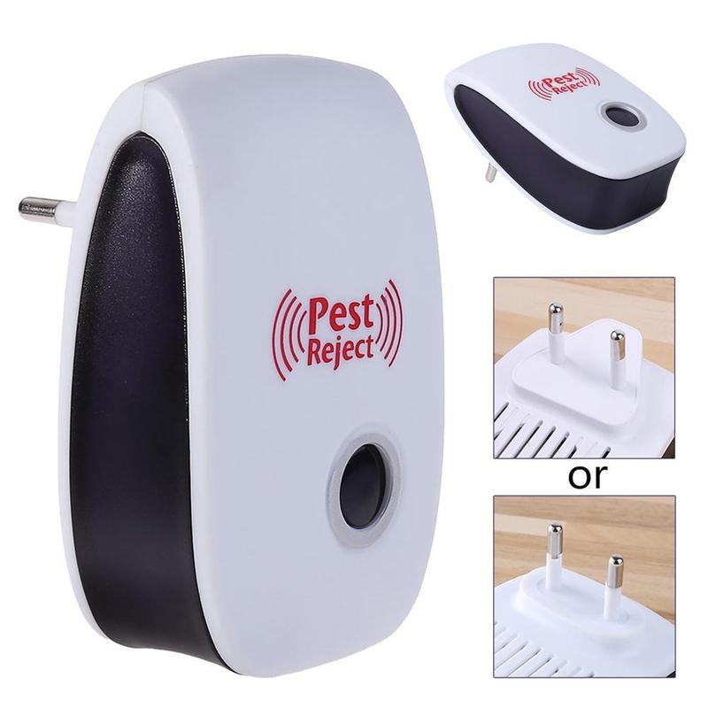 Image 2 - Multi purpose Electronic Ultrasonic Mosquito Killer Reject Bug Mosquito Cockroach Mouse Pest Reject Magnetic Killer Repeller-in Repellents from Home & Garden
