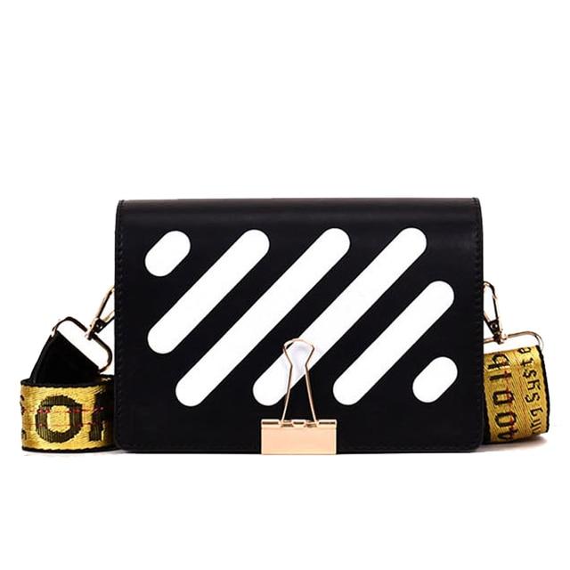 2019 nuevos bolsos de mensajero de cuero de Pu a rayas bolsos de mensajero de mujer bolsos de hombro de moda bolsos de diseño de solapa de bandolera de mujer