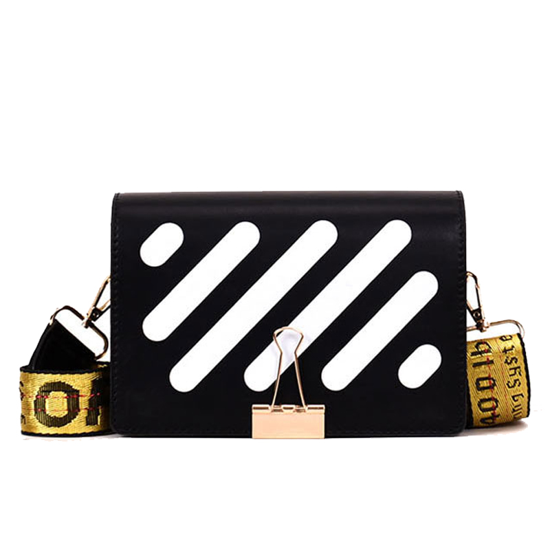 WOBAG 2019 Women Designer Bag Fashion Pu Leather Stripe Crossbody Bag For Women Female Messenger Bags Hot Sale Bolsa Feminina