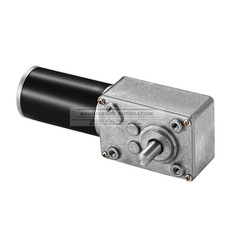 Free shipping 31ZY 24v Worm Geared Motor High Torque 12v Motor Reversed DIY Robot Rotating Table Door Lock Self lock Motor