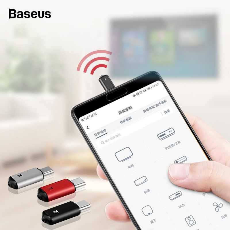 Baseus Mini Универсальный пульт дистанционного управления для samsung LG Air mouse usb type C Smart IR control ler адаптер для Android tv Aircondition