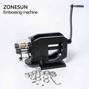 Image 5 - ZONESUN Leather Stamping Machine Cold Pressing Machine Embossing Repeating Pattern For Leather Belt Guitar Straps Logo Embosser