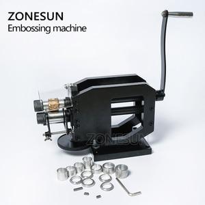 Image 5 - Zonesun 가죽 스탬핑 기계 콜드 프레스 기계 엠보싱 반복 패턴 가죽 벨트 기타 스트랩 로고 embosser