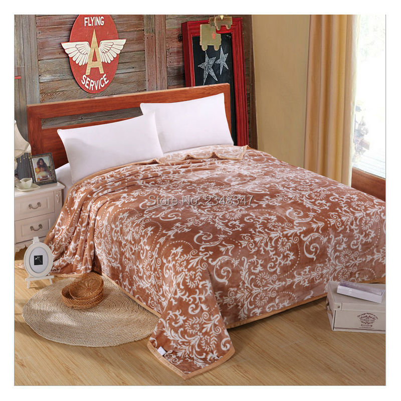 Quality European Style Plush Soft Faux Mink Flannel Fleece Blanket Adorable King Size Blankets And Throws