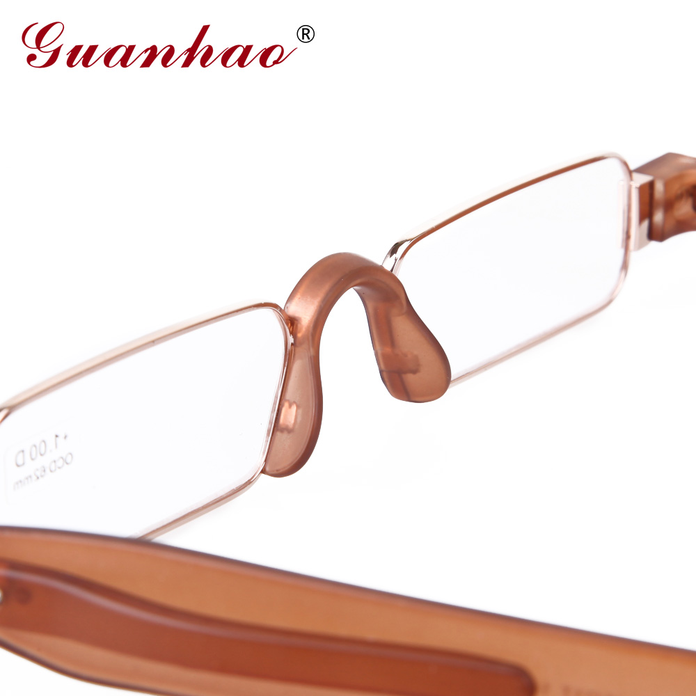 Guanhao Brand Retro Portable Reading Glasses Rotating TR90 Resin - Apparel Accessories - Photo 5