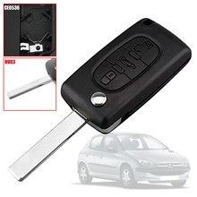 OcioDual CE0536 HU83 Trunk 3 кнопки чехол для выкидного ключа чехол для Peugeot 206 207 306 307 308 407 607 806 Citroen C2 C3 C4 C5 C6 C8