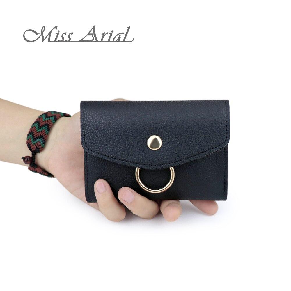 Mini, Wallets, Slim, Cute, Leather, Women