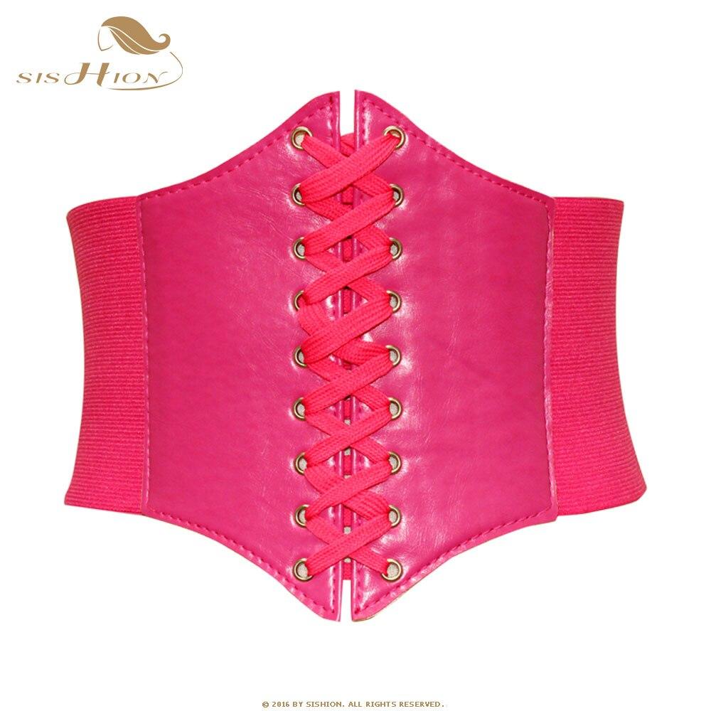 SISHION Women Waist Cincher   Corset   Waist   Corset   Top Sexy Pink Red Black Corselet Slimming Shapewear Bodysuit   Bustiers   VB0001R