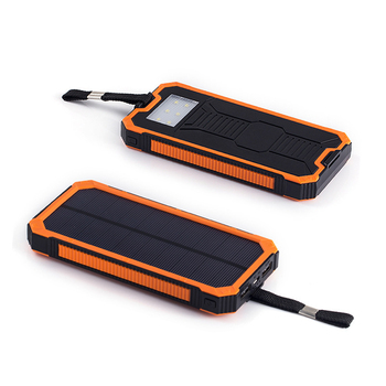 Solar Power Bank with Camping Lamp