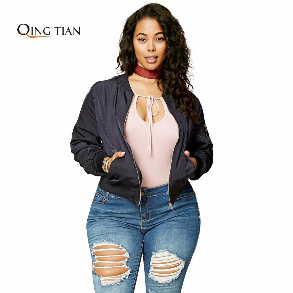 Qing tian plus size fashion women clothing bordado de impresión ocasional Street