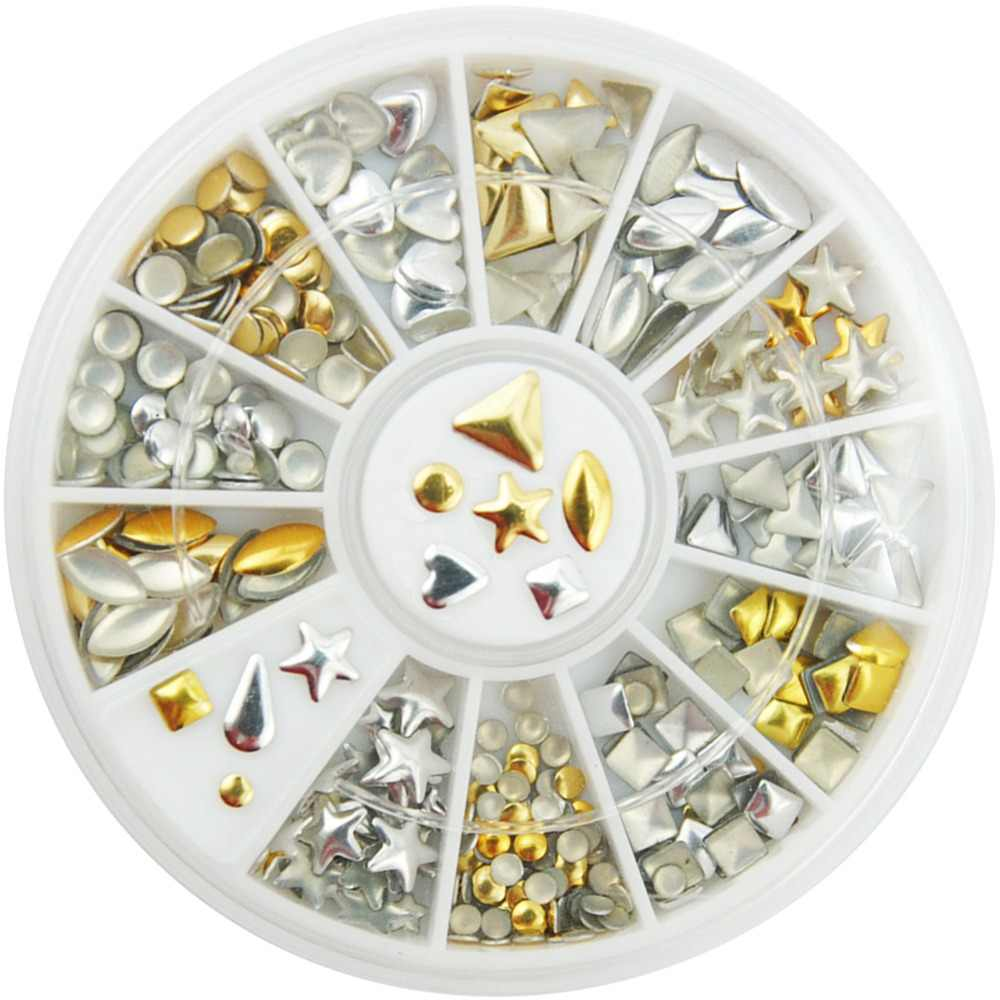 Gold Silver Mixed Rhinestones Nail Art Decorations Strass Hotfix Rhinestones Strass Hotfix Rhinestone Flatback For Clothing