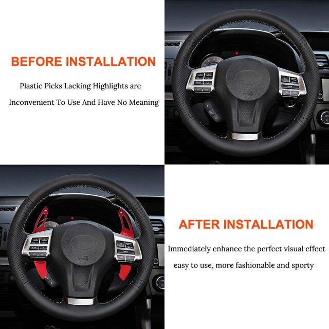Palette de changement de volant de voiture | Paire de palettes de changement de vitesse, en alliage daluminium, Extension de vitesse pour Subaru Legacy XV BRZ pour Toyota Forester