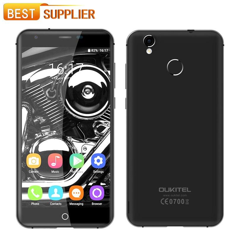 """Цена за На складе oukitel k7000 4 г отпечатков пальцев смартфон android 6.0 mtk6737 quad core 5.0 """"HD IPS Телефон 2 ГБ RAM 16 ГБ ROM 5MP"""