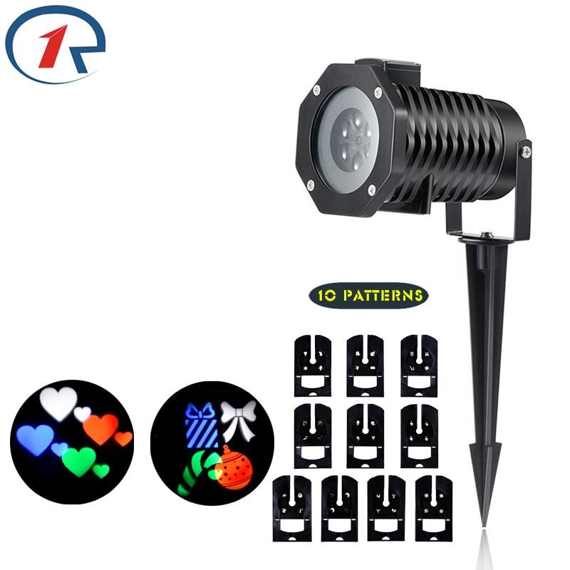 ZjRight 10 Vzor barevný efekt LED světlo Vodotěsné promítací - Komerční osvětlení