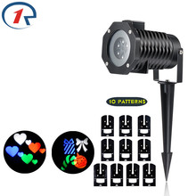 ZjRight 10 Pattern colorful effect LED light Waterproof projection stage light Halloween Christmas birthday party effect lighing