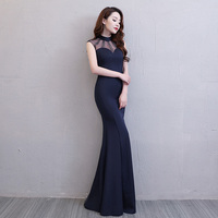 Floor Length Full manual Gauzy Sexy Star full Prom Evening dresses 2018 Cocktail dress Night entertainment venue dress 150