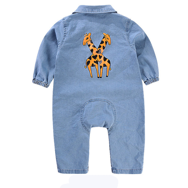2019 Baby Romper Unisex Cotton Long Sleeve Newborn Baby Clothes Jumpsuit Infant Clothing Denim Roupas Winter Overalls For Newbon