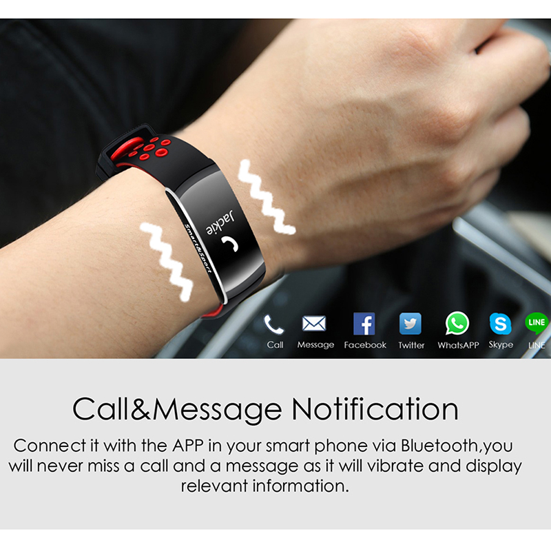 Smart band IP68 waterproof Smart Wristband Heart rate Smart band Fitness tracker Smart Bracelet for xiaomi huanwei phone in Smart Wristbands from Consumer Electronics