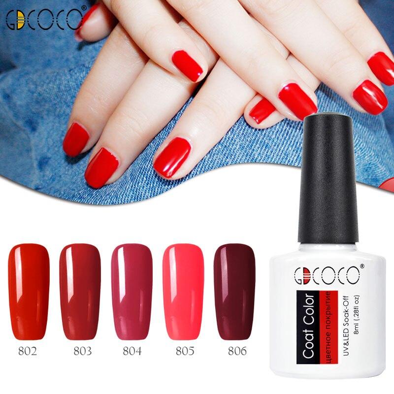 GDCOCO Color Nail Gel Polish summer colors 8ML nail art diy soak off gel uv led nail enamel UV nail gel polish lacquer varnishes