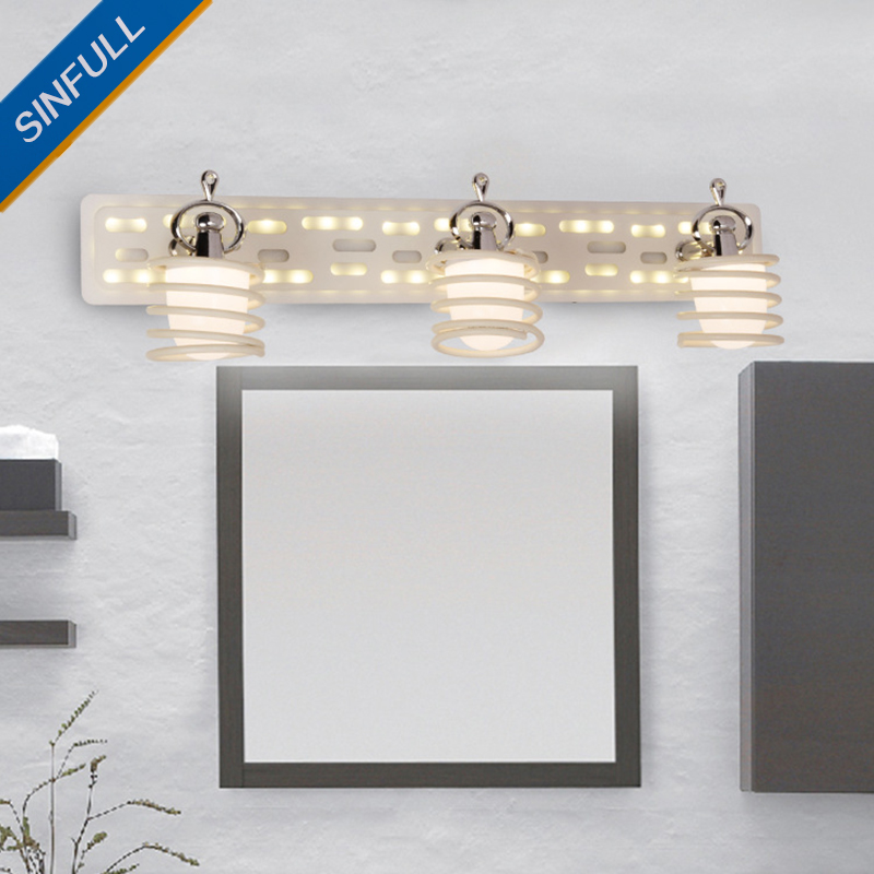 Fashion Simple Led Mirror Lamp Bathroom Stainless Steel Wall Light New Design Indoor Home Lighting Fixtures AC90-260V Wholesale modern led bathroom light stainless steel led mirror lamp dresser cabinet waterproof sconce indoor home wall lighting fixtures