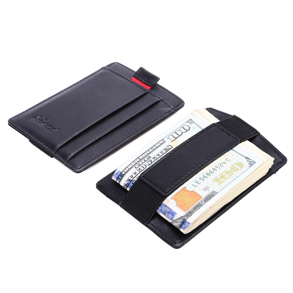 53c14843c171 Men Slim Wallet RFID Blocking Bifold Trifold Genuine Leather Wallet ...