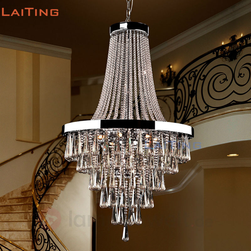 huge discount cd6f1 3071e US $801.18 |LAITNG D80CM Luxury K9 Crystal Chandelier Lighting Home Living  Room Halloween Decoration Gold Chandelier Lamp LT 71092-in Chandeliers from  ...