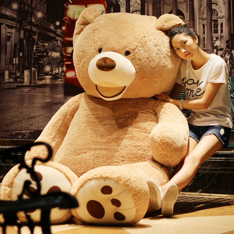 1pc 100-260CM Cute Home Decoration USA Huge Super Teddy Bear Plush Toy Shell .Girl Birthday Teddy Plush Toy Gift